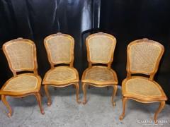 Chippendél barokk ratános 4 db szék