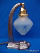 Antik szecessziós ón asztali lámpa
