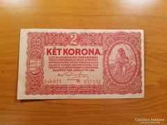 *** Hajtatlan/aUNC 1920-as 2 korona  ***