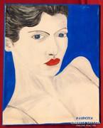 P.Kubiczek / Kék szemek - szép női portré
