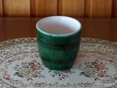 Csésze kávés zöld mázas