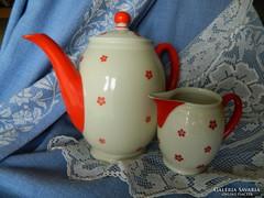Antik, Echenbach porcelán teás kiöntő