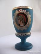 Antik, talpas pohár, kupa (19. század)