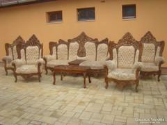 Antik Barokk ülőgarnitúra 7db-os