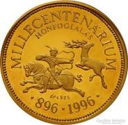 Honfoglalás millecentenárium - aranyozott ezüst emlékérme