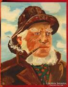 Hajós kapitány - szépen megfestett portré 70-80-as évekből