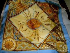 Vintage francia selyem kendő 86 cm X 86  cm