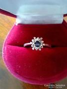 Antik, gyönyörű kék köves ezüst gyűrű