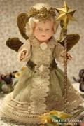 Antik karácsonyi angyalka baba - karácsonyfa dísz