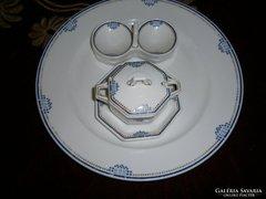 Fischer Emil jelzésű 3 db  Art Deco porcelán együtt