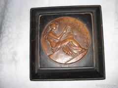 Bajnoki bronz plakett 1925-ből