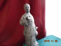 Antik kínai homokkő szobor-36,5 cm