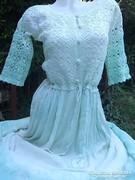 Vintage ruha batikolt, horgolt