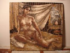 Márvány mozaik kép női akt eladó