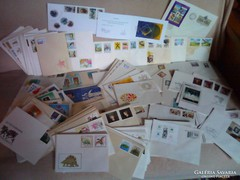 231db posta tiszta bélyeg blokkok sorok első napi borítékon
