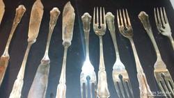 Ezüst 6 személyes halas készlet