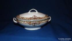 Antik mini  porcelán leveses tál