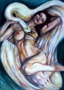 Vio Léda című festménye