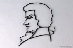 0J682 Kontúr drótmunka Beethoven portré