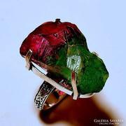 925 jelzett csiszolt druzy gyűrű