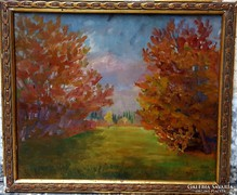 Hénel Gusztáv Eredeti festménye !