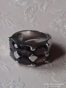 Elegáns füstkvarc ezüst gyűrű