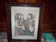 Glatz Oszkár  (1872-1958 ) :Bujáki lányok