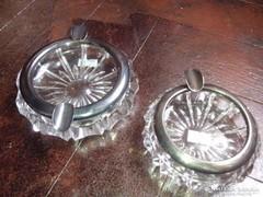 Antik,kristaly hamutalak ezüst (925) vasalattal