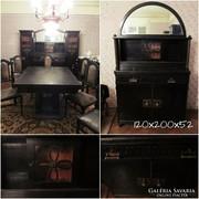 Étkező szett - talaló szekrények, asztal, hat szék