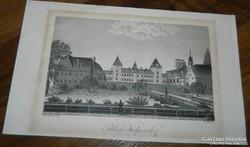 Régi metszet  nyomat / kőnyomat > Schloss Walpersdorf