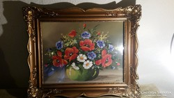 Mayer jelzéssel asztali virágcsendélet