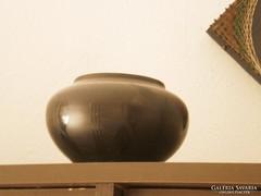 Fekete retro kerámia  kaspó