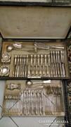 Ezüst 12 személyes evőeszköz készlet