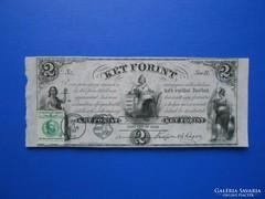 Hajtatlan 2 forint 1852 alkalmi felülbélyegzéssel