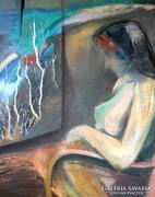 CSERNÓ JUDIT Budapest,1925 - 2000 - Ábrándozás festmény