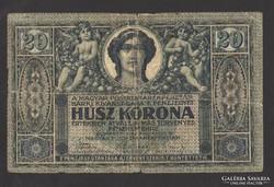 20 korona 1919. augusztus. 9.  RITKA !!!