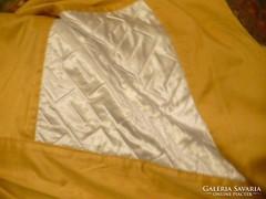 Sárga franciágy takaró plüss és selyem