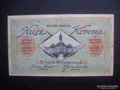 Szeged 20 korona pénztárjegy 1918 RITKA !!