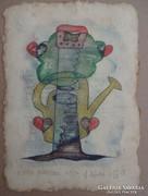 Ef Zámbó István sokszorosított grafika 21x15 cm