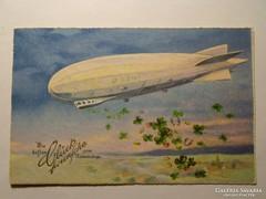 Léghajó képeslap