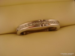 Arany(fehér 18k)gyémánt eljegyzési gyűrű 7,2g Eredeti ZANCAN