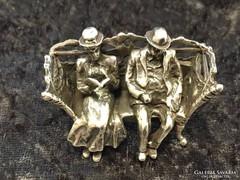 Ezüst miniatűr szobor