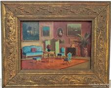 Burchard Bélaváry István ( 1864-? ) antik olajfestmény