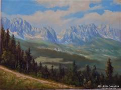 Wilder Kaiser Osztrák festmény70es évek 60x80cm
