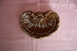 Zsolnay kígyós arannyal díszített névjegykártyatartó