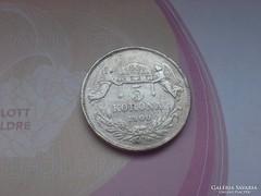 1900 magyar ezüst 5 korona keresett érme,24 gramm 0,900