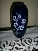Ritka Hollóházi porcelán virágos  váza