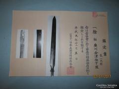 Japán Yari lándzsa az 1700-as évek elejéről