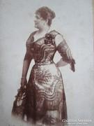 BLAHA LUJZA eredeti aláírt dedikált FOTÓ BALATONFÜRED 1888