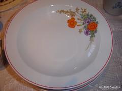 Pipacsos tányér  hollóházi 6 darab